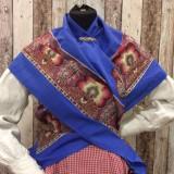 Pañuelo de algodón estampado rojo o azul