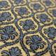 Tela terciopelo azul flor vainilla